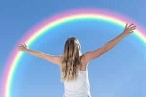 Girl and Rainbow